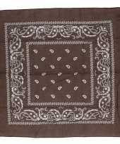 Carnavalskleding katoenen zakdoek bruin paisley print
