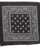 Carnavalskleding katoenen zakdoek zwart paisley print