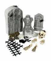 Carnavalskleding kerkhof versieringsset