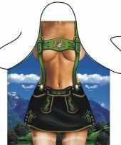 Carnavalskleding keukenschort alpen girl