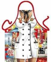 Carnavalskleding keukenschort chef kok