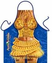 Carnavalskleding keukenschort pasta vrouw