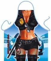 Carnavalskleding keukenschort police girl