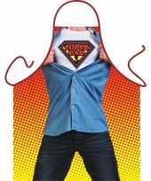 Carnavalskleding keukenschort super dad