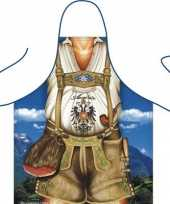 Carnavalskleding keukenschort tiroler man
