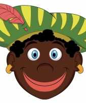 Carnavalskleding kinder masker zwarte piet