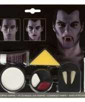 Carnavalskleding lange vampier tanden stuks set