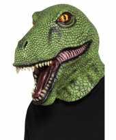 Carnavalskleding latex dinosaurus masker volwassenen