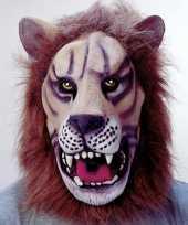 Carnavalskleding leeuwen masker latex