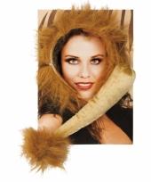 Carnavalskleding leeuwen setje volwassenen