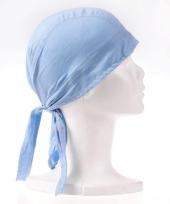 Carnavalskleding lichtblauwe bandana