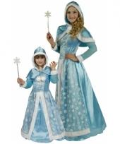 Carnavalskleding lichtblauwe sneeuw prinsessen jurkje