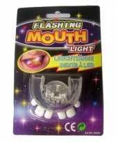 Carnavalskleding lichtgevend gebitje scheve tanden tanden