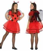 Carnavalskleding lieveheersbeestje verkleedjurkje meisjes