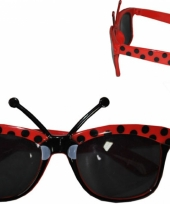Carnavalskleding lieveheersbeestje zonnebrillen