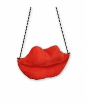Carnavalskleding lippen tas dames rood