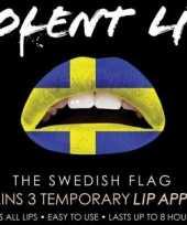 Carnavalskleding lipstickers zweden