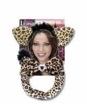 Carnavalskleding luipaarden setje volwassenen