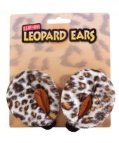 Carnavalskleding luipaarden verkleed setje oren