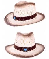 Carnavalskleding luxe ibiza cowboyhoed steen