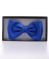 Carnavalskleding luxe kobalt blauwe vlinderstrik