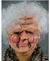Carnavalskleding luxe oma masker latex
