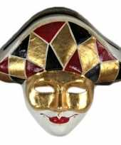 Carnavalskleding luxueus harlekijn masker