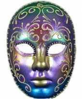 Carnavalskleding luxueus regenboog masker strass