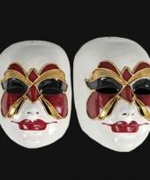 Carnavalskleding luxueus vlinder masker carnaval venice