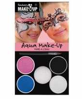 Carnavalskleding make up setje prinses kleuren