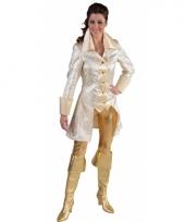 Carnavalskleding markies jasje wit goud grote maat