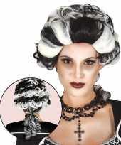 Carnavalskleding markiezin vampierenpruik dames