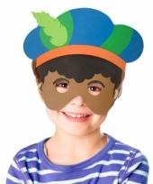 Carnavalskleding masker piet jongens