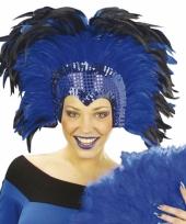 Carnavalskleding mooie veren hoofdtooi deluxe