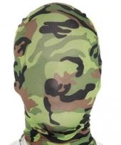 Carnavalskleding morphsuit maskers camouflage