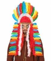 Carnavalskleding multikleuren indianen tooi heren