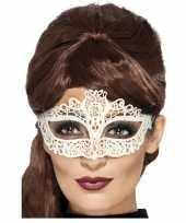 Carnavalskleding mysterieus oogmasker wit dames