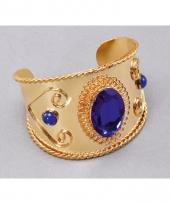 Carnavalskleding nacht gouden armband