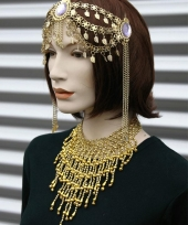 Carnavalskleding nacht halsketting goud dames