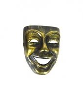 Carnavalskleding narrenmasker goud zwart