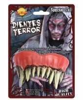 Carnavalskleding nep gebit lange scherpe monster tanden