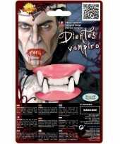 Carnavalskleding nep gebit vampier tanden boven onder tanden