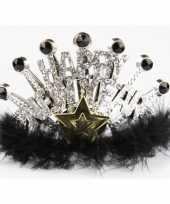 Carnavalskleding nieuwjaar tiara zilver
