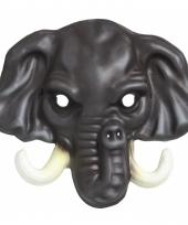 Carnavalskleding olifant kindermasker plastic
