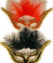 Carnavalskleding oogmasker diverse kleuren