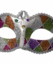 Carnavalskleding oogmasker glitters