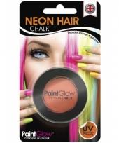 Carnavalskleding oranje uv hairchalk