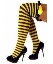 Carnavalskleding overknee kousen bij motief ruches