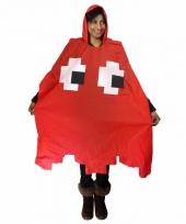 Carnavalskleding pacman spookje rood regenponcho