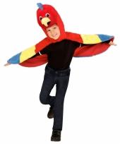 Carnavalskleding papegaai verkleedcape peuters
